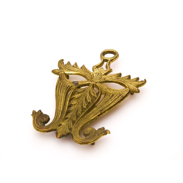 Vintage Brass Mask Trivet - Image 2 of 5