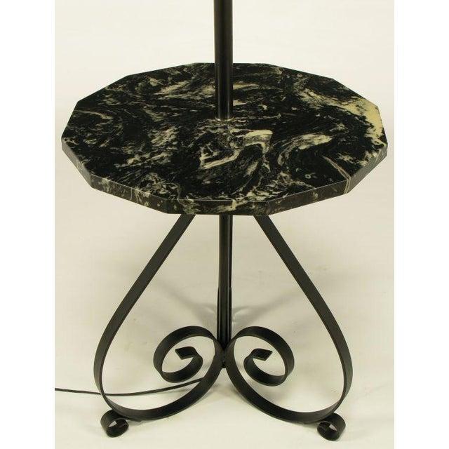 Black Dodecagon Marble & Iron Moorish Floor Lamp - Image 5 of 6