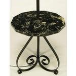 Image of Black Dodecagon Marble & Iron Moorish Floor Lamp