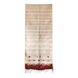 Native American Style Handwoven Wool Runner - 3′ × 12′
