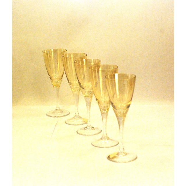Image of Bohemia Crystal Glassware Gold Iridescent - S/17