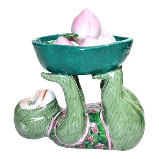 Ceramic Monkey Figurine Monkey Dish