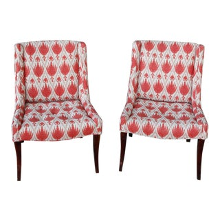 Reupholstered Armless Side Chairs - A Pair