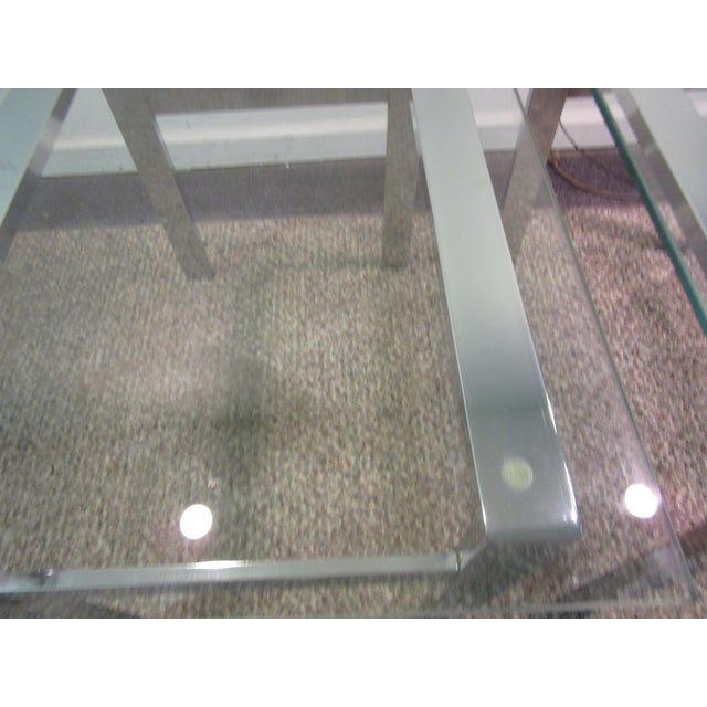 Milo Baughman Chrome Side Tables - A Pair - Image 8 of 11