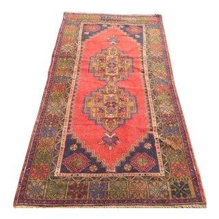 Vintage Anatolian Rug - 3′11″ × 7′9″