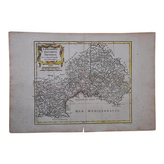 18th C. Antique Map-France-Languedoc, Dauphine Provence