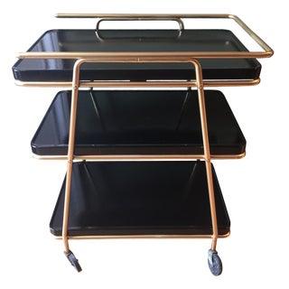 1960s Vintage Sleek Bar Cart