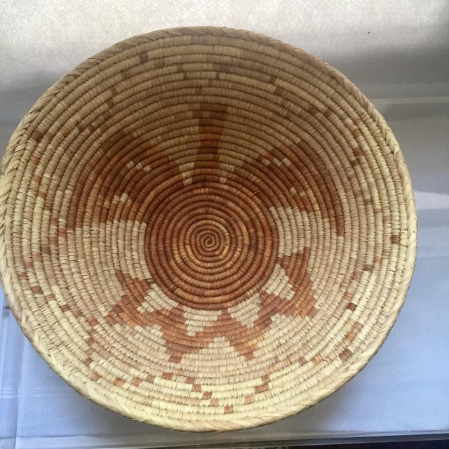 Vintage Native American Apache Pima Coil Basket - Image 6 of 11