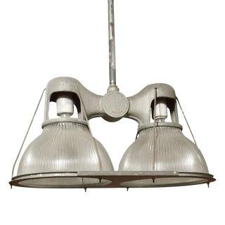 Double Holophane Pendant Light