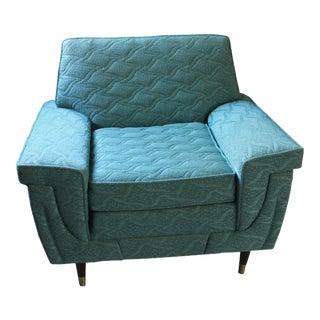 Retro Mid-Century Turquoise Armchair