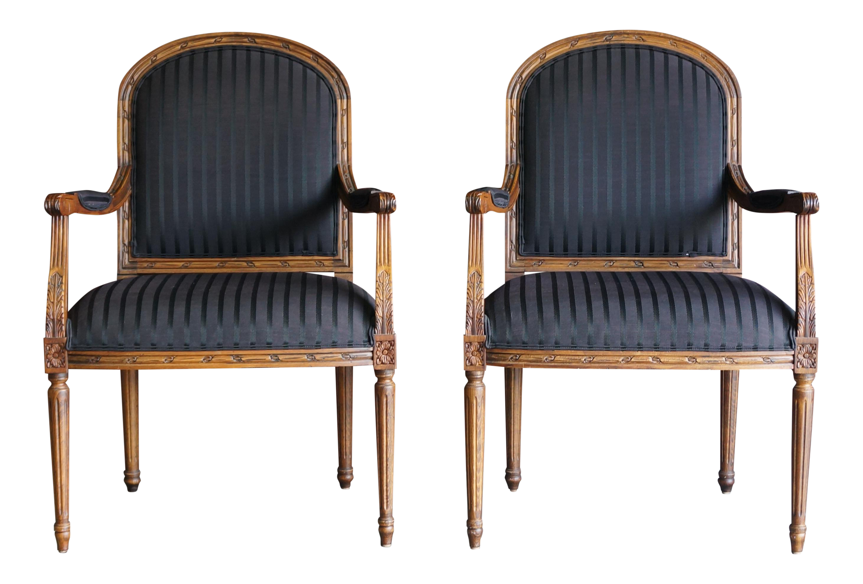 Ethan Allen French Style Accent Chairs  A Pair   Image 1 Of 8