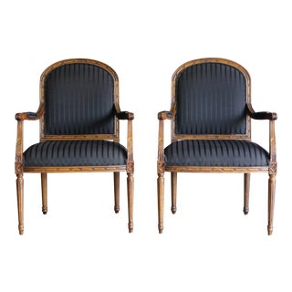 Ethan Allen French Style Accent Chairs- A Pair