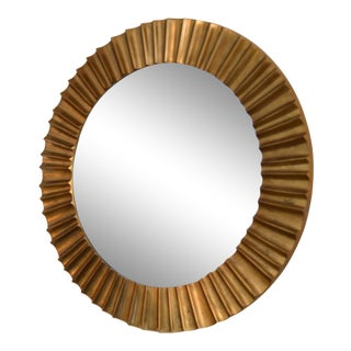 Solid Bronze Sunburst Mirror