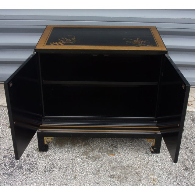 Vintage Asian Style Cabinet With Brass Hardware - Image 10 of 11
