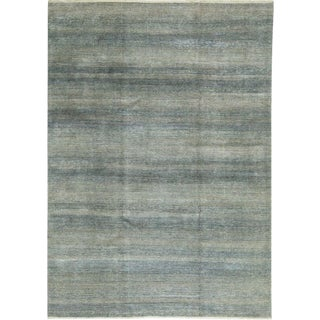 Contemporary Blue Hand Woven Rug- 8′8″ × 11′9″