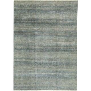 Contemporary Blue Hand Woven Rug- 8′8″ × 11′9″