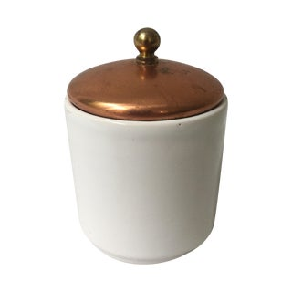 Copper Lidded Kitchen Canister