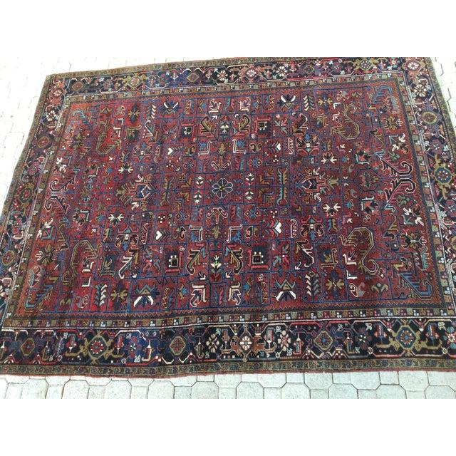 Vintage Persian Wool Rug - 7′6″ × 9′8″