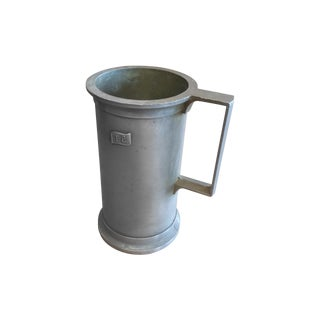 Italian Vintage Pewter Liter Measuring Cup