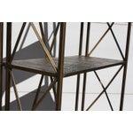 Image of 1990s Italian Wireframe Triptych Etagere Shelf