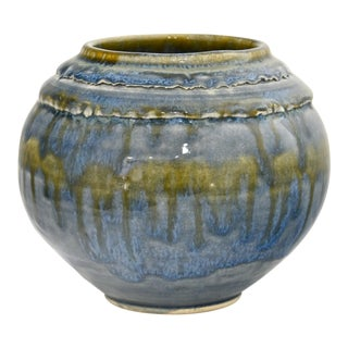 Blue Studio Art Ball Vase