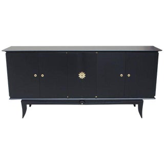 1940s Vintage French Art Deco Ebonized Sideboard /Buffet