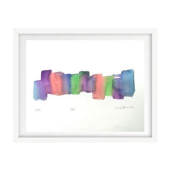 'Iota' Original Watercolor Painting - Image 1 of 4