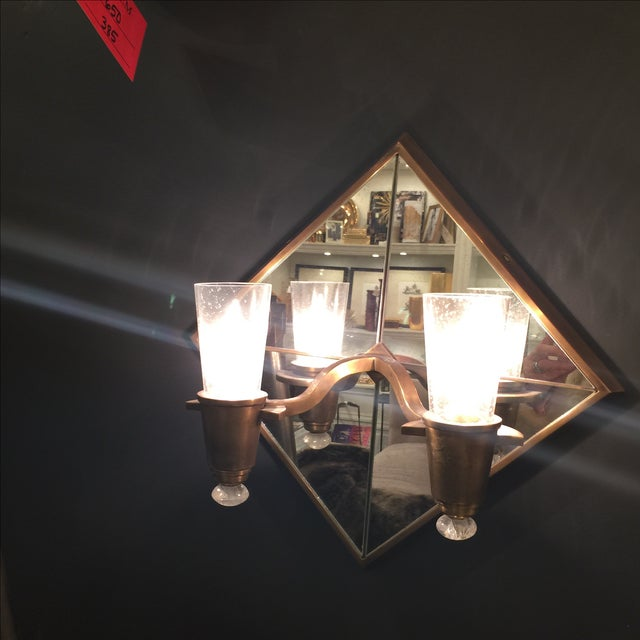 Double Arm Mirrored Sconce - New - Image 4 of 9