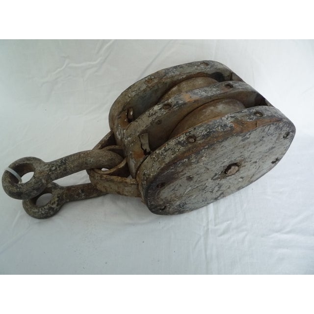Large Ship Block And Tackle Pulley With Clevis - Image 2 of 3
