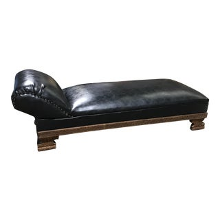 Vintage Deco Leather Chaise