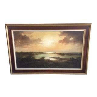 Serene Landscape Oil Painting Original Suarez