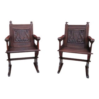 French Antique Gothic Chairs - A Pair