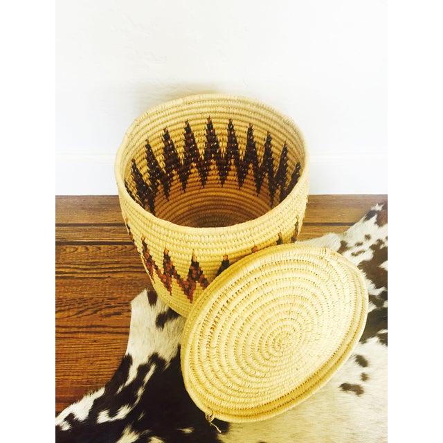 Large Vintage Coil Basket or Hamper - Image 6 of 6
