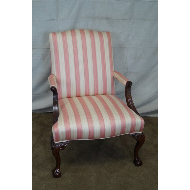 Chippendale Ball Amp Claw Foot Arm Chair Chairish