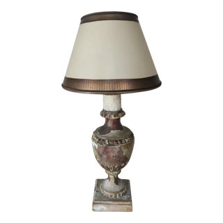 19th Century Urn Lamp w/ Parchment Shade