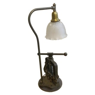 Plumber's Pipe Vise Table Lamp