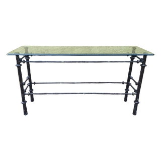 Brutalist Patinated Console Table After Giacometti