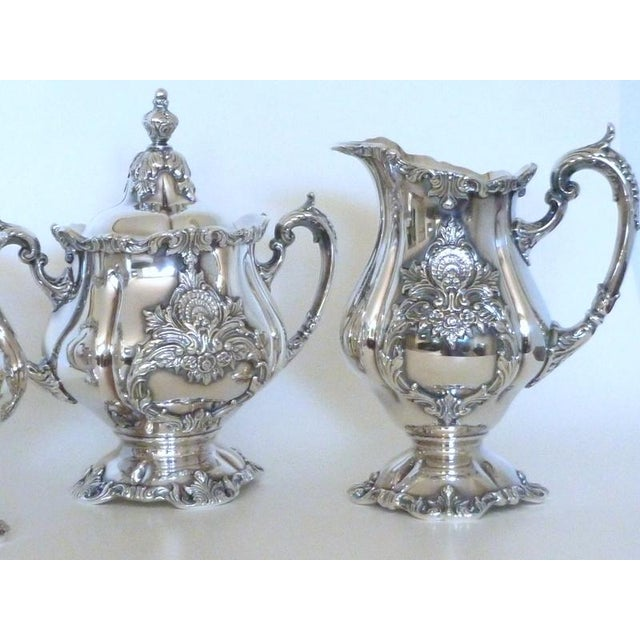 Wallace silverplate christopher wren six piece coffee for Burke and wallace silversmiths