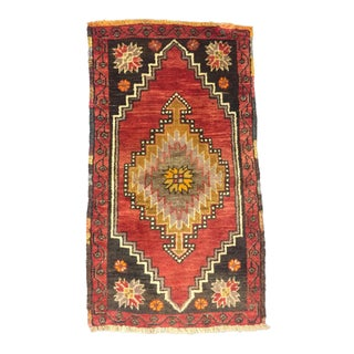 Vintage Pink Turkish Rug - 1′9″ × 3′2″