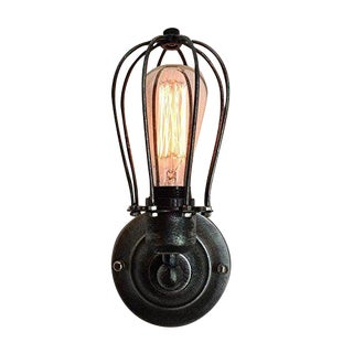 Vintage Industrial Cage Light Wall Sconce