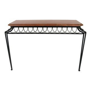 French Iron Console with Gilt Trim