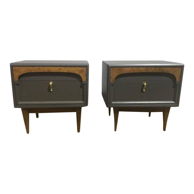 Image of Gray American of Martinsville Nightstands - A Pair