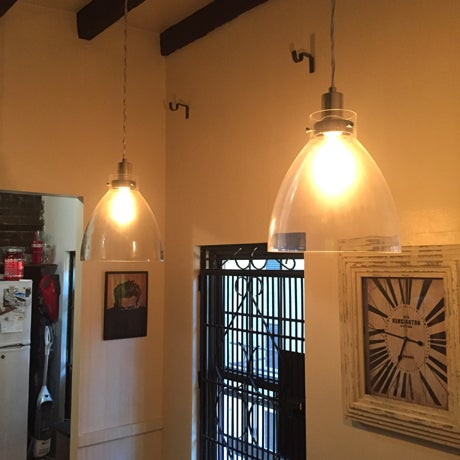 West Elm Plug In Ceiling Pendant Lights - A Pair - Image 3 of 3