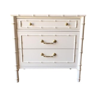 Vintage Hollywood Regency White Lacquer Dresser
