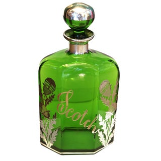 Antique Green Scotch Bottle