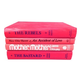 Vintage Red Book Stack - Set of 4