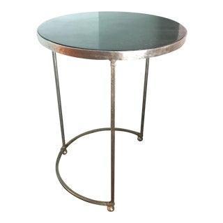 Contemporary Modern Metal Granite Side Table
