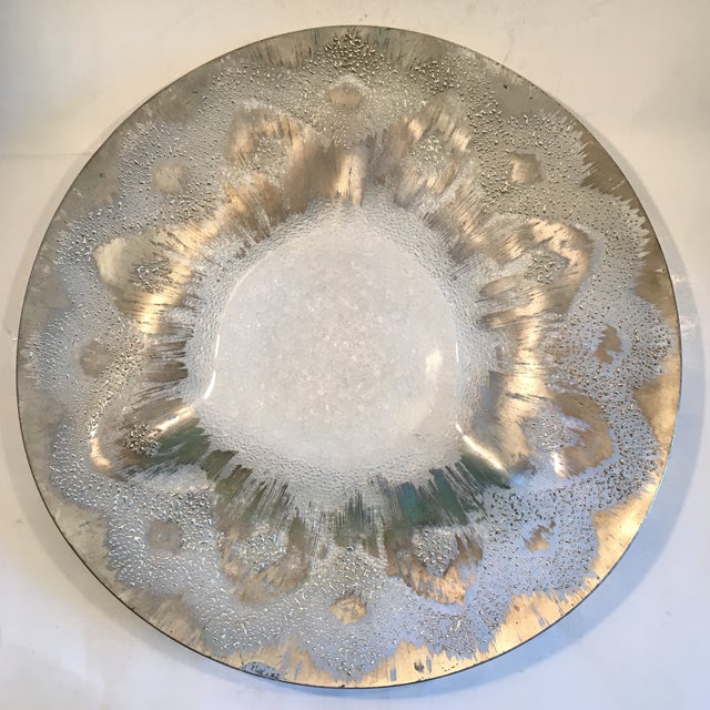Dorothy Thorpe Silver Splatter Serving Platter - Image 2 of 7