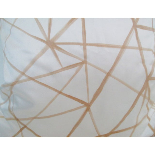 Graphic Abstract Pillow Cover Cream & Gold - Image 3 of 5