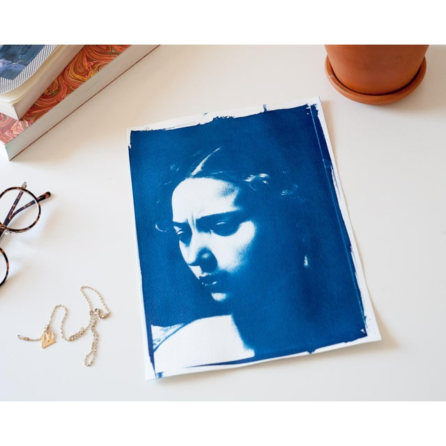 Judith Face Cyanotype Print by Caravaggio - Image 3 of 3